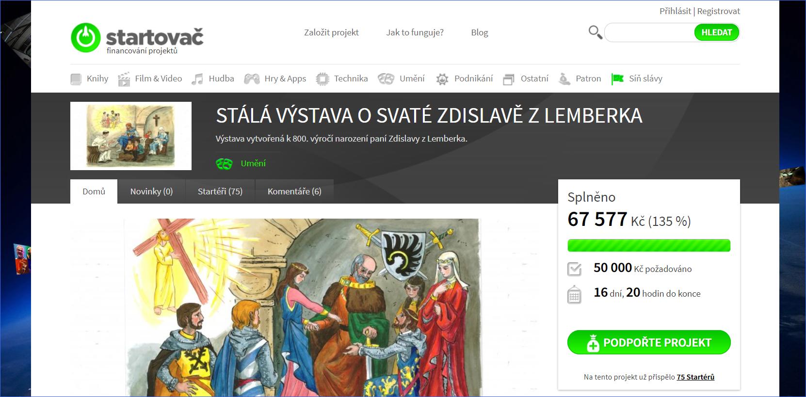 Startovač, crowdfundingový portál